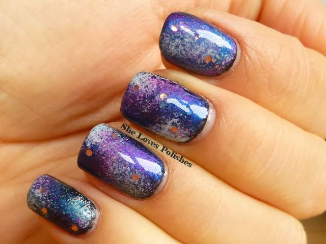 "My Galaxy Nail for the ""Battle of Planets"" challenge"