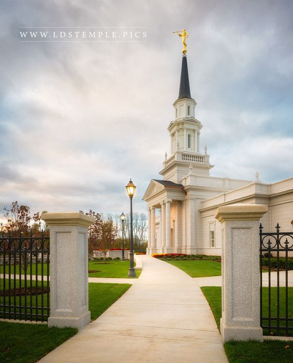 Hartford Temple Pathway - The small pathway leading up to the Hartford Connecticut Temple.