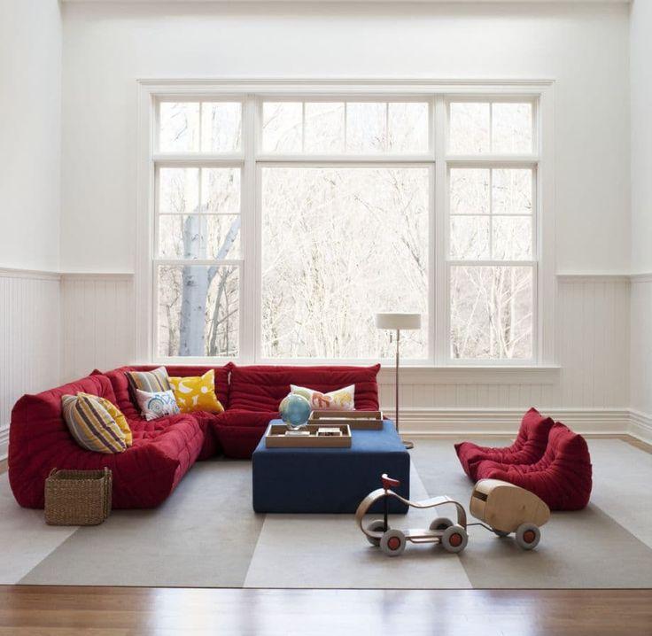 Una casa a Prova di bambino 5 Idee e Consigli di Arredamento Soggiorno Rosso