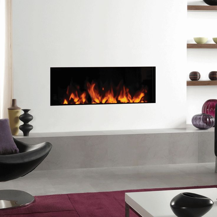 Gazco Studio Electric Inset 105 frameless inset fire has longer lines making it a stylish designer statement in any interior. Bell: EST 1898.