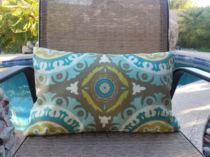 Pillow Covers-Decorative Pillow Cover-Blue Pillow-Throw Pillow Cover-Decorative Pillow Cover-Turquoise Pillow-Turquoise Lumbar Pillow-Pillow