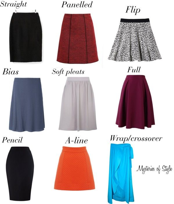 Skirts for neat hourglass body shape
