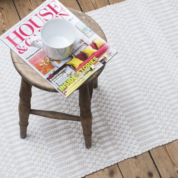Scandinavische patroon licht beige vloer loper door Skandihome