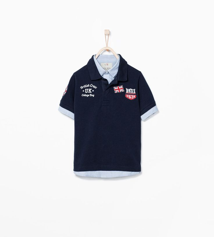 ZARA - KIDS - UK PATCHES POLO SHIRT