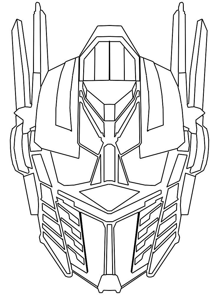 U0026quot Optimus Prime Face Sketch U0026quot By D124 Redbubble Optimus Prime Coloring Pages For Kids Transformers Coloring Pages