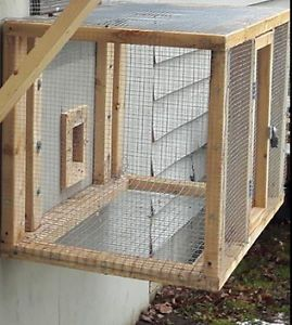 RABBIT OR PIGEON CAGE FOR SALE, WITH HINGED DOOR AND LATCH