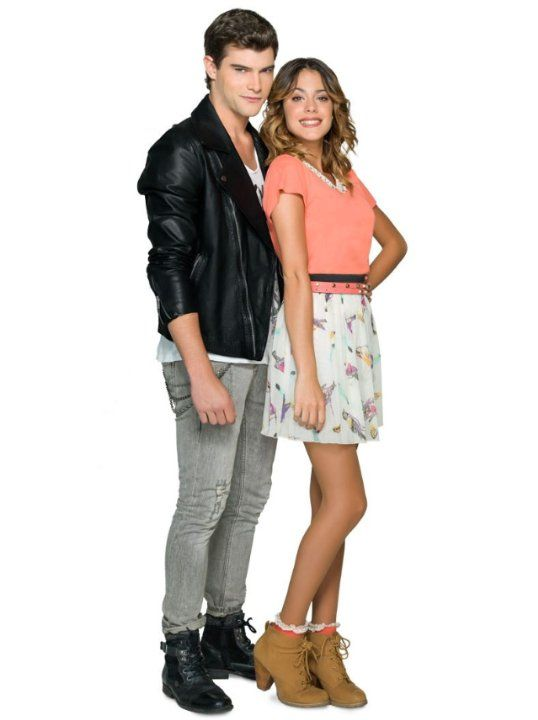 Diego Domínguez and Martina Stoessel in Violetta (2012)
