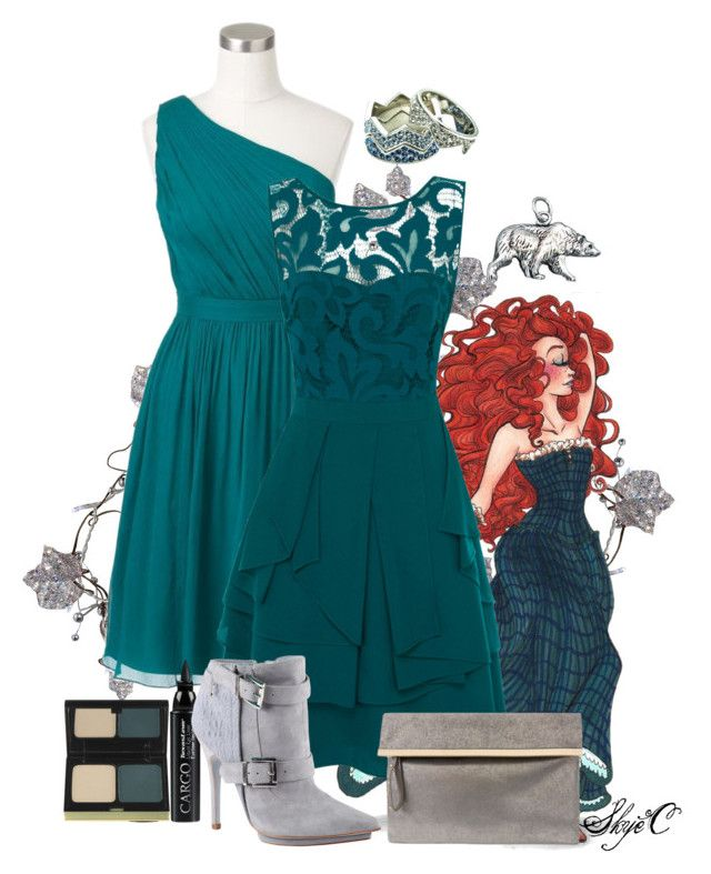 """Merida - Formal - Disney Pixar's Brave"" by rubytyra ❤ liked on Polyvore featuring Merida, J.Crew, Coast, Eddie Borgo, CARGO, Kevyn Aucoin, ALDO, women's clothing, women and female"