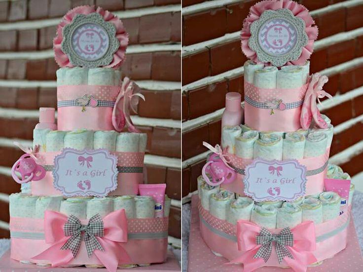 Tort scutece...Diaper cake...Baby Shower...