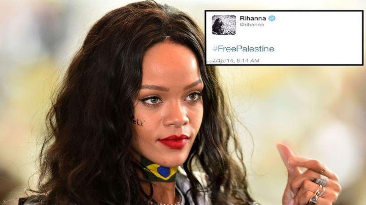 Rihanna 'tweets then deletes' #FreePalestine - AL ARABIYA #Rihanna, #FreePalestine