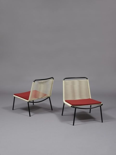 Andre Monpoix--- Pair of armchairs 151, 1953