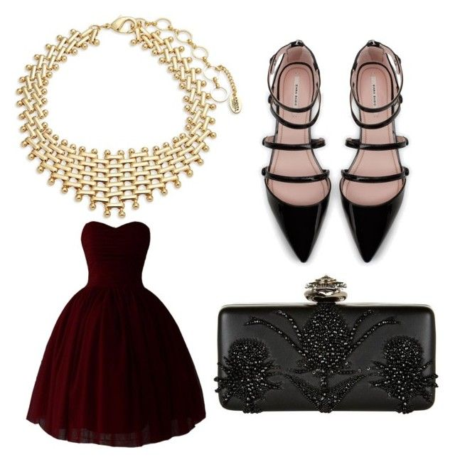 """Sans titre #6"" by misleydy on Polyvore featuring mode, Amrita Singh, Zara et Alexander McQueen"