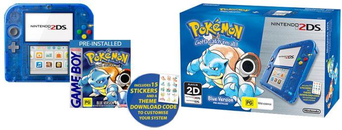 Nintendo 2DS Special Edition - Pokémon Blue Version - EB Games Australia