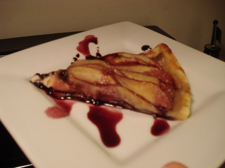 Blessed Are The Cheesemakers - Stinking Bishop & Port Poached Pear Tart