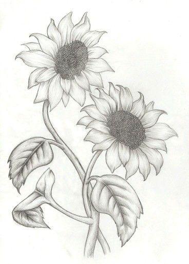 Resultado de imagen para vintage blue flower drawing girasol ...
