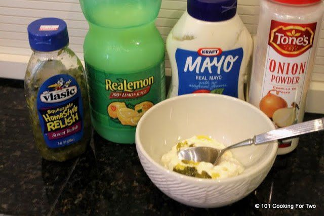 An easy homemade tartar sauce using only 4 ingredients you already have in your kitchen. Use it anywhere you need it.