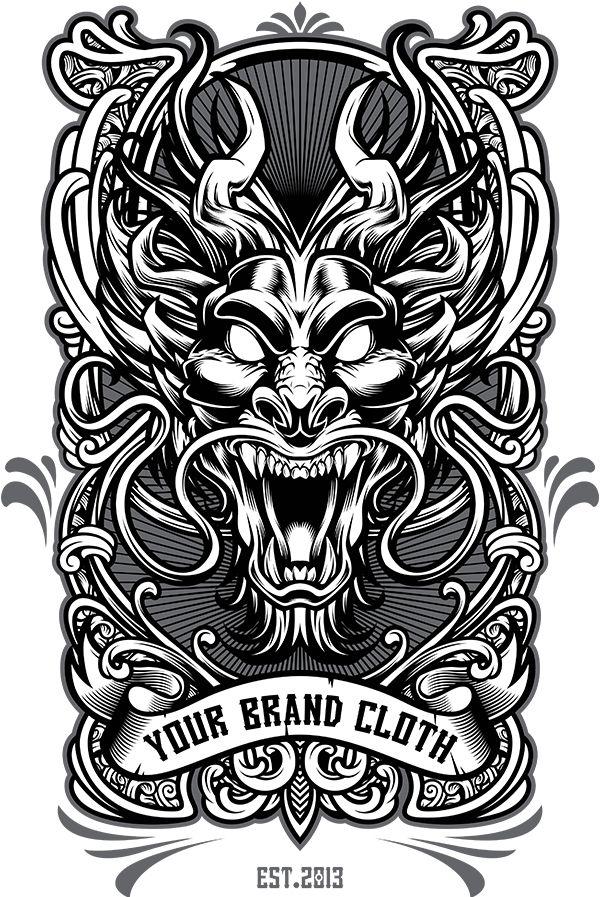 Angoes 25. https://www.behance.net/gallery/26235381/Dragon-Vector-Tshirt-Design-Template