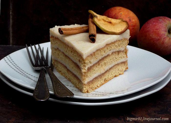 Бисквит из муки из поджаренных овсяных хлопьев, нежный сливочно-яблочный крем и яблочный джем с корицей - и все это вкусный и нежный овсяный торт. Рецепт крема…