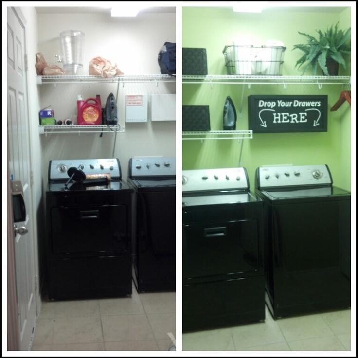 my small laundry room makeover inspiring ideas pinterest. Black Bedroom Furniture Sets. Home Design Ideas