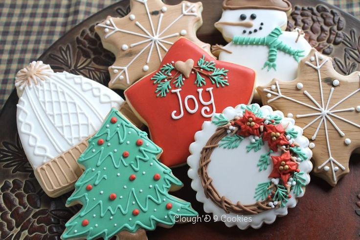 Rustic Christmas Cookies-Decorated Sugar Cookies
