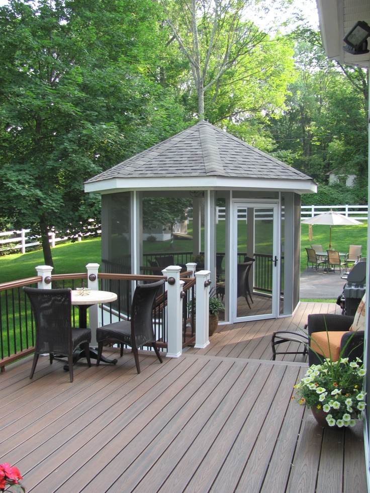 125 best images about screened in deck and patio ideas on for Decks and gazebos