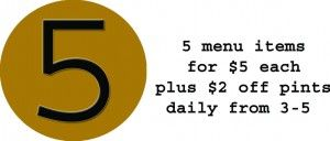 5 for $5