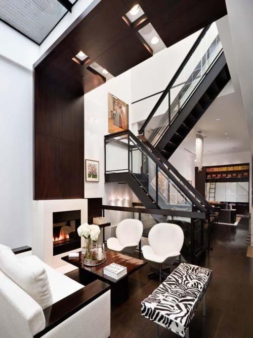 Una sala moderna salas de estar hogar muebles y casas - Muebles urban chic ...