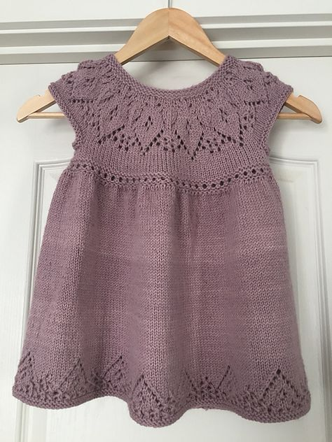 Ravelry: Polly Dress pattern by Suzie Sparkles for baby to 6 year old girl. Knitted dress knitting pattern baby babies girls