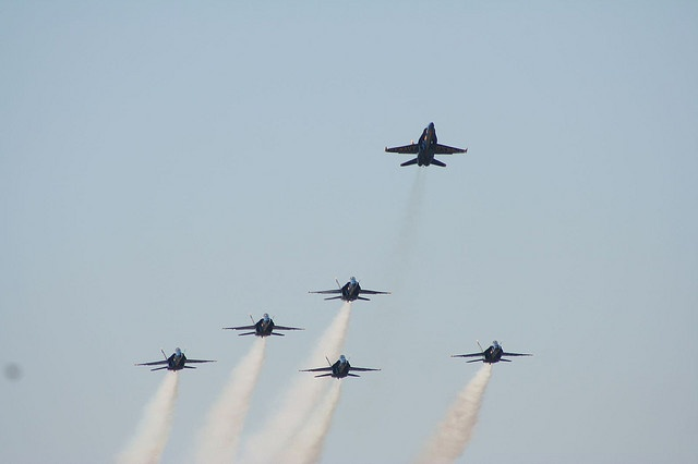 Blue Angles Missing Man Formation