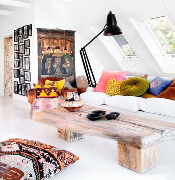 Ethnic Chic interior design, incorporating colors and textures from around the world.