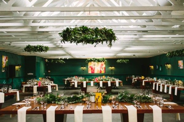 Classy modern wedding reception space | Image by Let's Frolic Together
