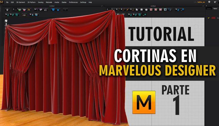 Tutorial cortinas en Marvelous Designer ::: Parte 1