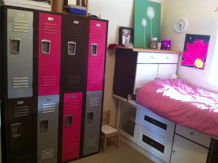 lockers a fun way to organize kids room especially for monsters high themed room