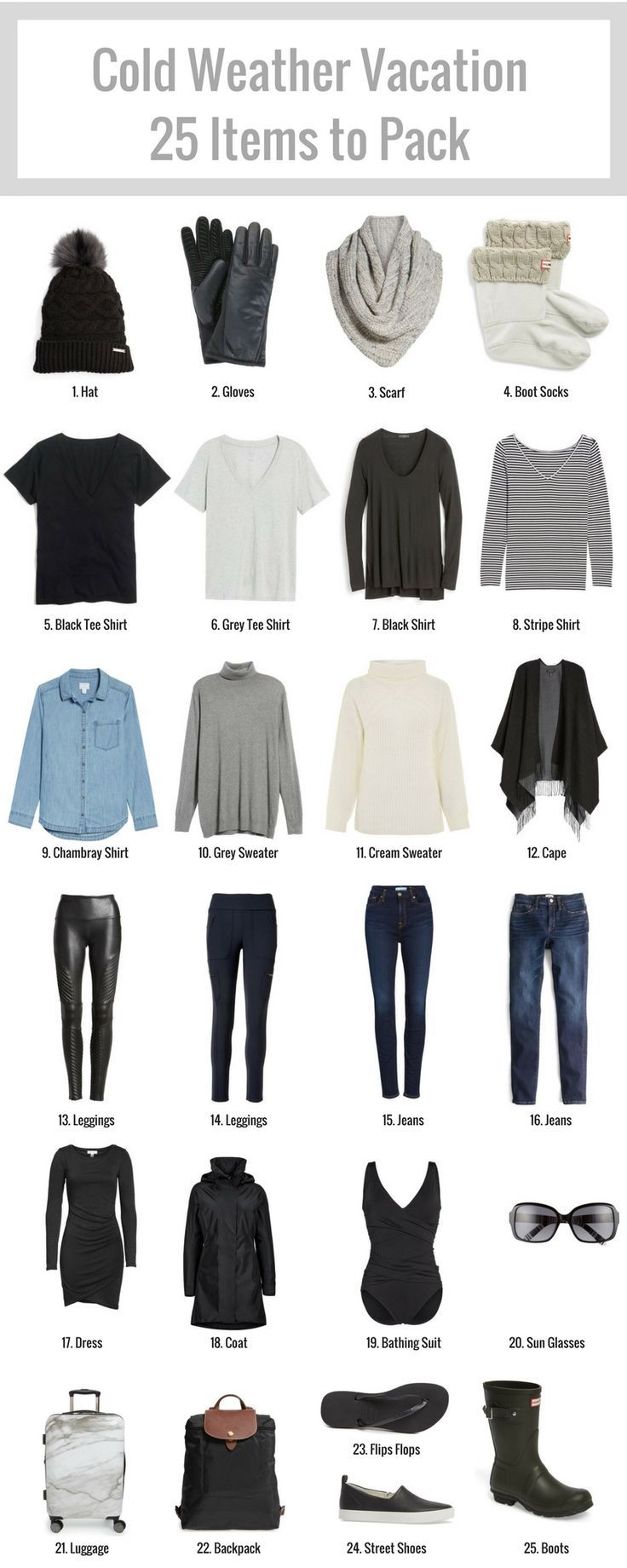 Cold Weather Vacation – 25 Items to Pack – Later Ever After, Blog