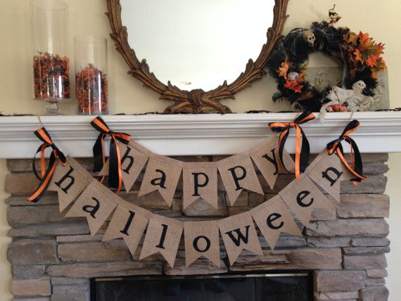 Our happy halloween banner adds a spooky touch to your Halloween decor Measurements: ~ happy approximately 25 inches ~ halloween approximately