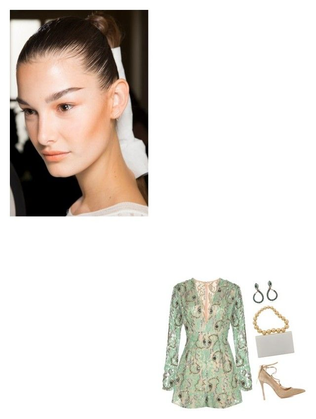"""""""The Nearness Of You"""" by venus-in-fleurs on Polyvore featuring moda, Roberto Cavalli, Alessandra Rich, Charlotte Olympia, Gianvito Rossi, GREEN, CharlotteOlympia, robertocavalli, GianvitoRossi e AlessandraRich"""