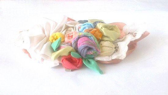 Wedding Sash Pretty Belly Vintage Wedding Sash by recyclingroom, $55.00