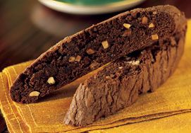 Brownie Biscotti made with Ghirardelli Triple Chocolate Brownie Mix