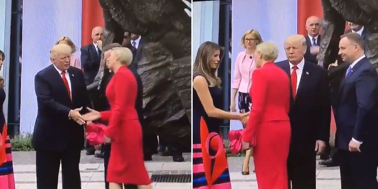 """What is it with women not wanting to touch President Donald Trump? We have seen women try to avoid bringing their hands in contact with Trump's hand on several occasions. We've even seen Trump's own wife, Melania,swat his hand awayas he tried to hold hers. Now Trump has gotten """"dissed"""" by yet a"""