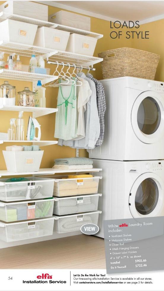 17 Best Images About Elfa Shelving Laundry On Pinterest