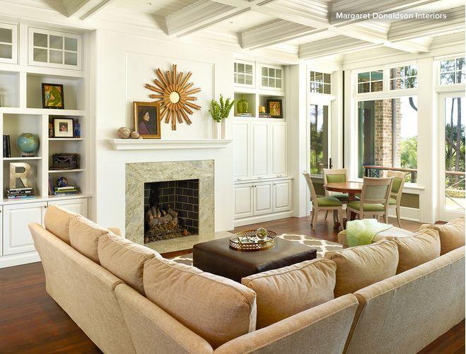 Belle maison superbes chambres idées déco pour salon espaces de vie salons de transition houzz intérieurs bancs pour la maison