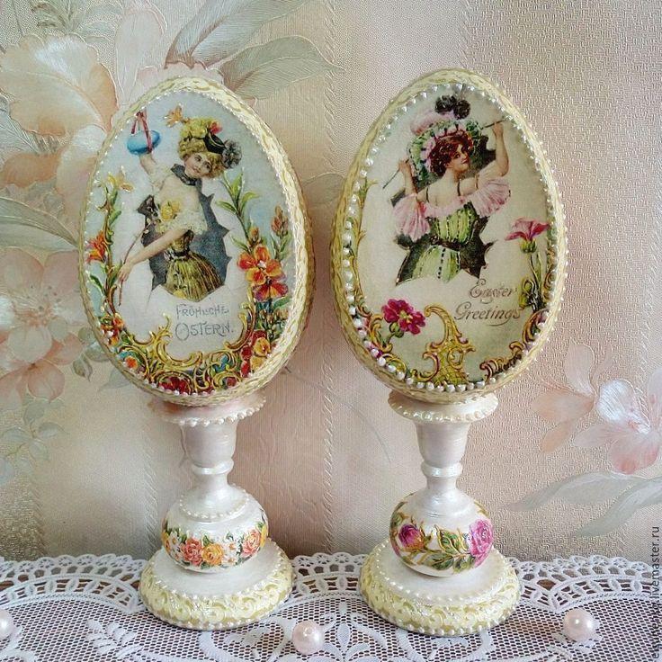 Купить или заказать Пасхальные яйца 'Дамы' в интернет-магазине на Ярмарке Мастеров.