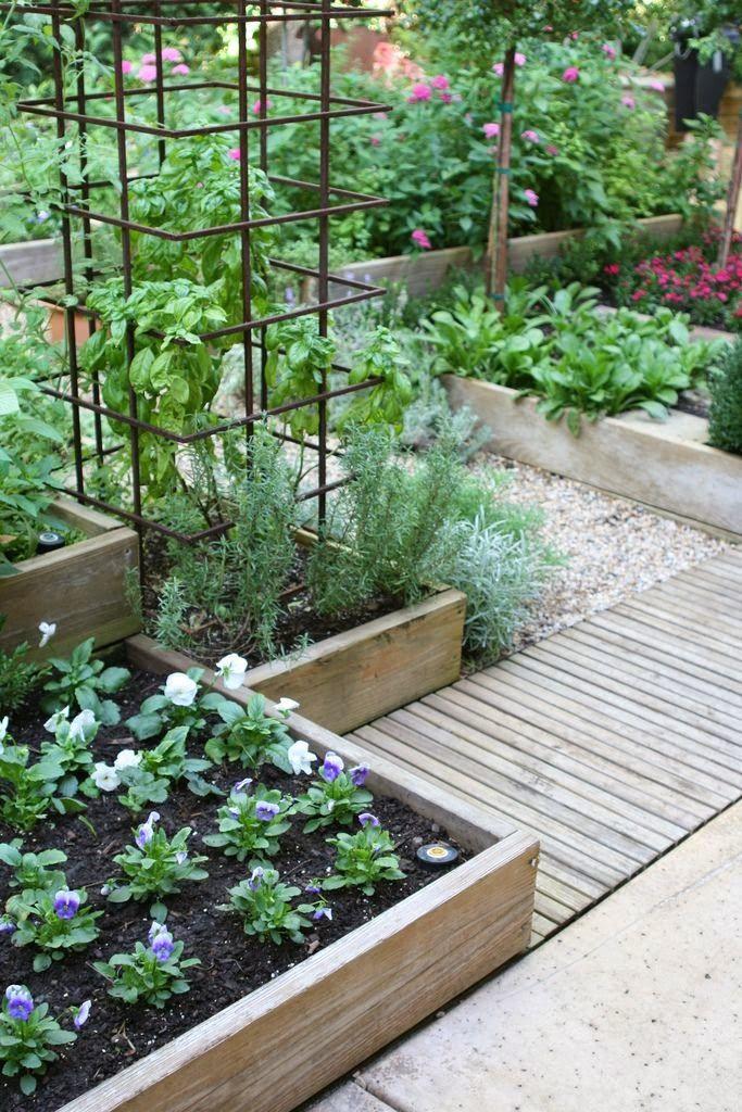 Kitchen garden at Bolen residence by Gardening in a Minute on Flickr