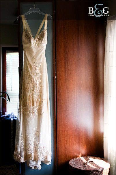 dress hanging shot