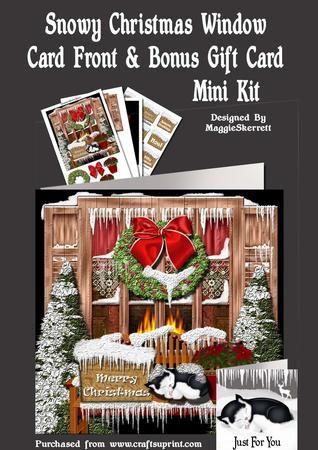 Snowy Christmas Window  on Craftsuprint - Add To Basket!
