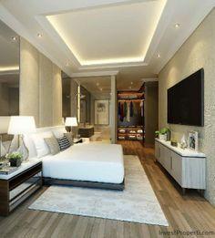 Contoh Interior Design Kamar Penthouse Apartemen Wang Residence