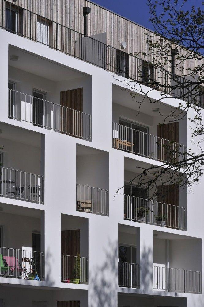 Esteban apartment building, Nantes, France by Leibar-Seigneurin Architects #multifamily #housing #apartment