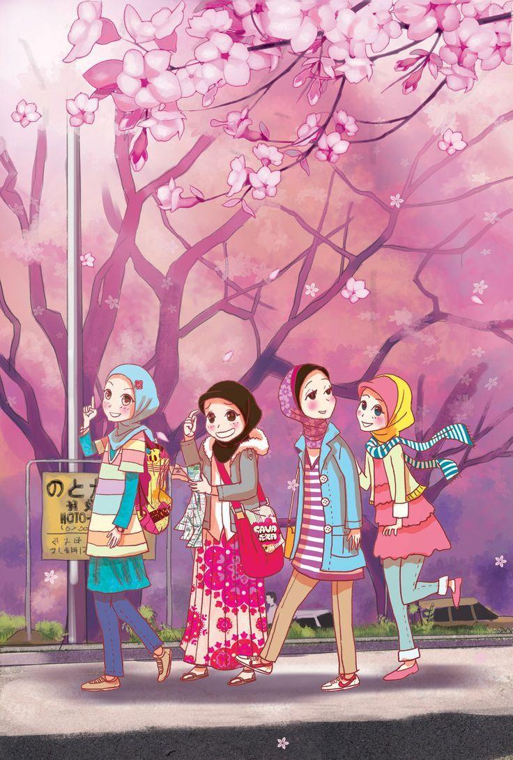 Muslim anime friends Hijab ^^ Pinterest Friends