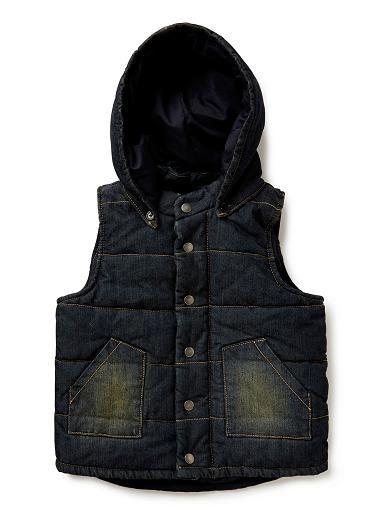 Boys Jackets & Coats | Hooded Denim Vest | Seed Heritage