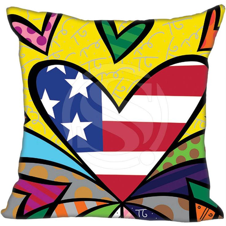 Hot Sale Custom Romero Britto Style &#4 Pillowcase 40X40cm (One Sides)Home Hot Pillow Cases 9-22T #Affiliate